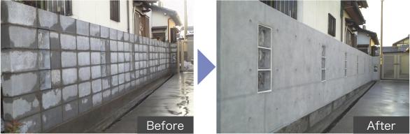 コンクリート打ち放し調デザイン