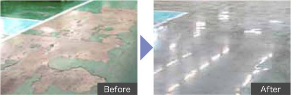 コンクリート床改修
