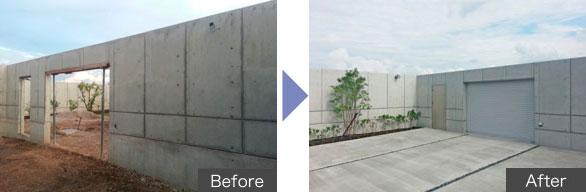 コンクリート新築物件の化粧