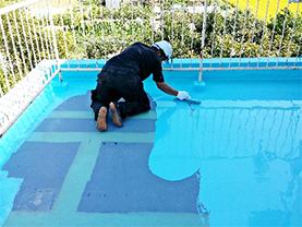 防水材塗布