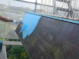 パラペット 防水材塗布