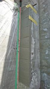 杉板模様モルタル造形