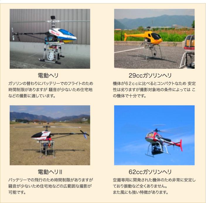撮影ヘリコプター
