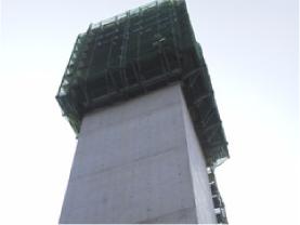 新東雲橋下部工事